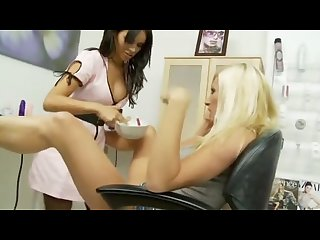 Gemma massey fuck Michelle thorne in the salon