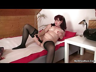 She finds her mom sitting on her man s dick