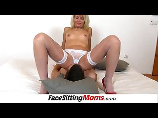 High heels lady ivona Cunnilingus with young male