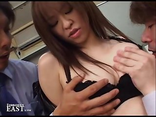 Japanese office bdsm and sex submission boss doms the secretary