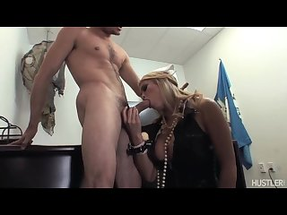 Poor guy big tit asian mia lelani takes him hostage gives him blowjob
