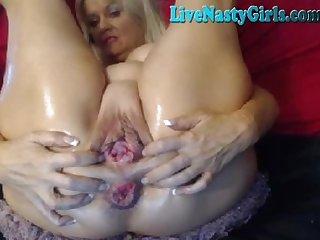 Mature grandma nasty webcam show 2