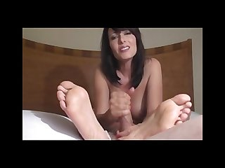 Zoey gives amazing handjob and footjob