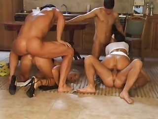 Two euro hotties get all of their holes fucked