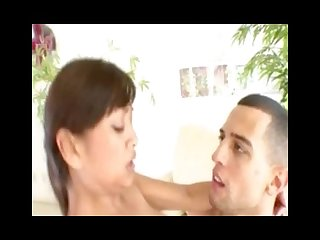 Asian chick rammed hard