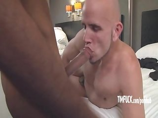 Versatile stud gets on gives up his holes for massive black cock