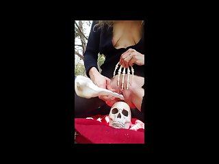 Halloween 2017 kinky solo girl creepy and sexy and silly she does it all
