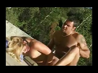 Anally reamed milf outdoors