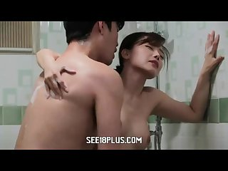 Horny Korean couple having hot shower fuck