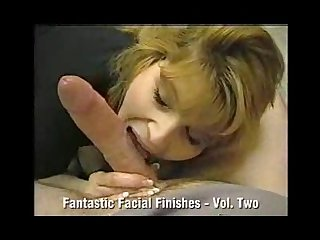 Huge facial Finish for whore mom