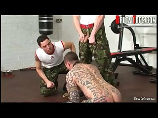 Military studs use and abuse willing pup