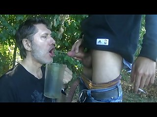 Full service piss cum 2 part
