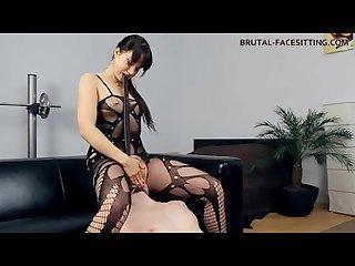 Facesitting femdom goddess pussy ass slave worship