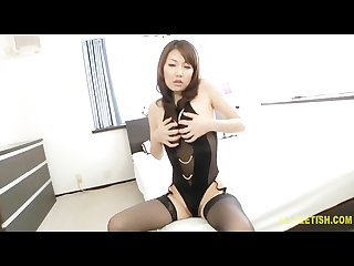 Japanese married woman black lingerie is sexy