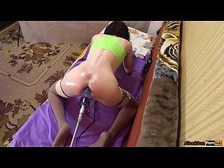 Ts girl sporty fit body oil ass ass cum 2