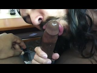 Black cock deepthroat suck