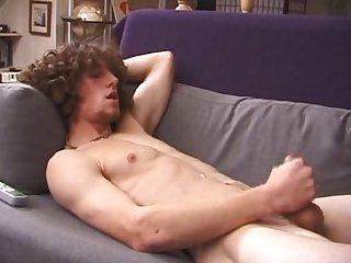 Beautiful sk8r adam cums short clip