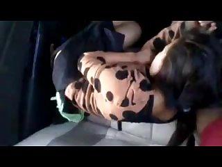 Burmese Couple have sex on the car