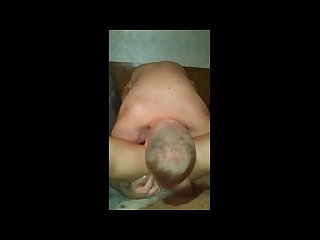 Sons friend brings mom to oral orgasm