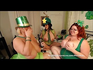 Angelina castro st patricks day 3way fuck fest
