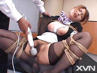Japanese cabin attendant bondage