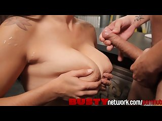 Bustynetwork hot milf raylene shows off her huge natural tits while riding