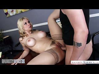 Big tits blonde sarah vandella gets anal sex in the office naughty americ
