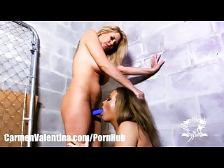 Carmen valentina gets molested by big tit lady cop