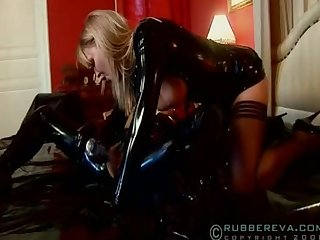 Black rubber lesbian