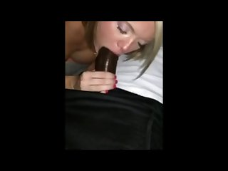 Blonde freak is a cock gobblin