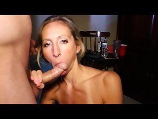 Sloppy blowjob gag deepthroat swallow cheating Cumslut Natalia aleksei