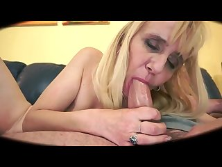 Blonde granny getting analcreampie