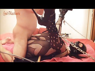 Chained slave slut fuck part 2 screaming cumming pov
