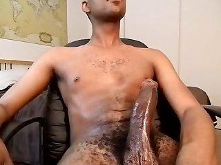 Black Twink cums