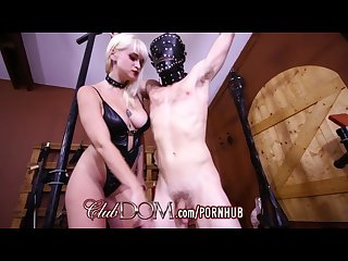 Clubdom mistress breaks in her slaves asshole