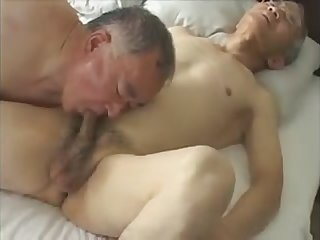 Handsome japanese old men fuck