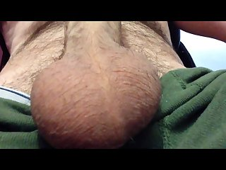 Another big spurt of cum on my hairy chest