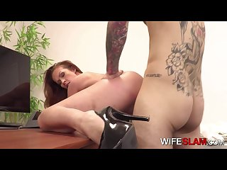 hot slutwife Sabrina cyns fucks her co worker