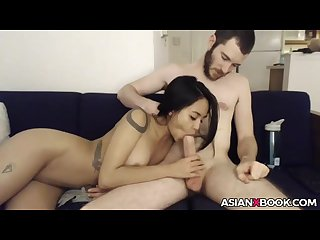 Stunning asian tries her magic wand
