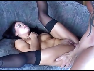 Petite cutie jayna fucking and anal in thigh high stockings and high heels