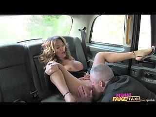 Femalefaketaxi sexy driver loves a hard cock