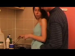 StepDaddy not daughter fucked in the Kitchen .any one know about this girl