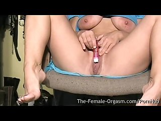 Milf with big tits and fleshy wet pussy masturbating selfie to real orgasm