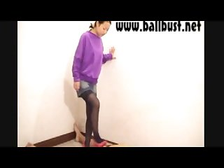 Old ballbust Net video coco Ballbusting