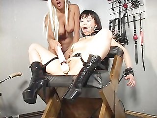 Sex slaves in bondage scene 3