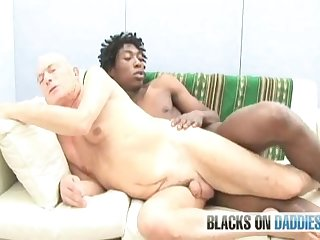 Black fuck white grandpa