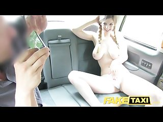 Faketaxi petite teen with big tits gets dick
