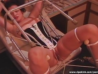Nurse domina plays with her bitch