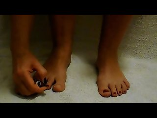 I m painting my toenails on request from you guys