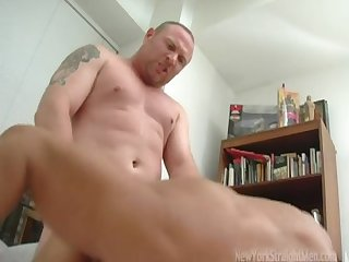 Chubby masculine straight guy pounds poor bobby hard